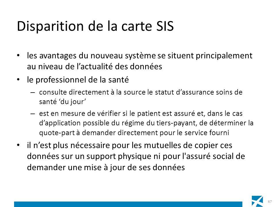 Disparition de la carte SIS les avantages du nouveau système se situent principalement au niveau de lactualité des données le professionnel de la sant