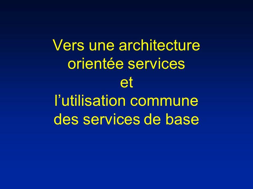 Vers une architecture orientée services et lutilisation commune des services de base