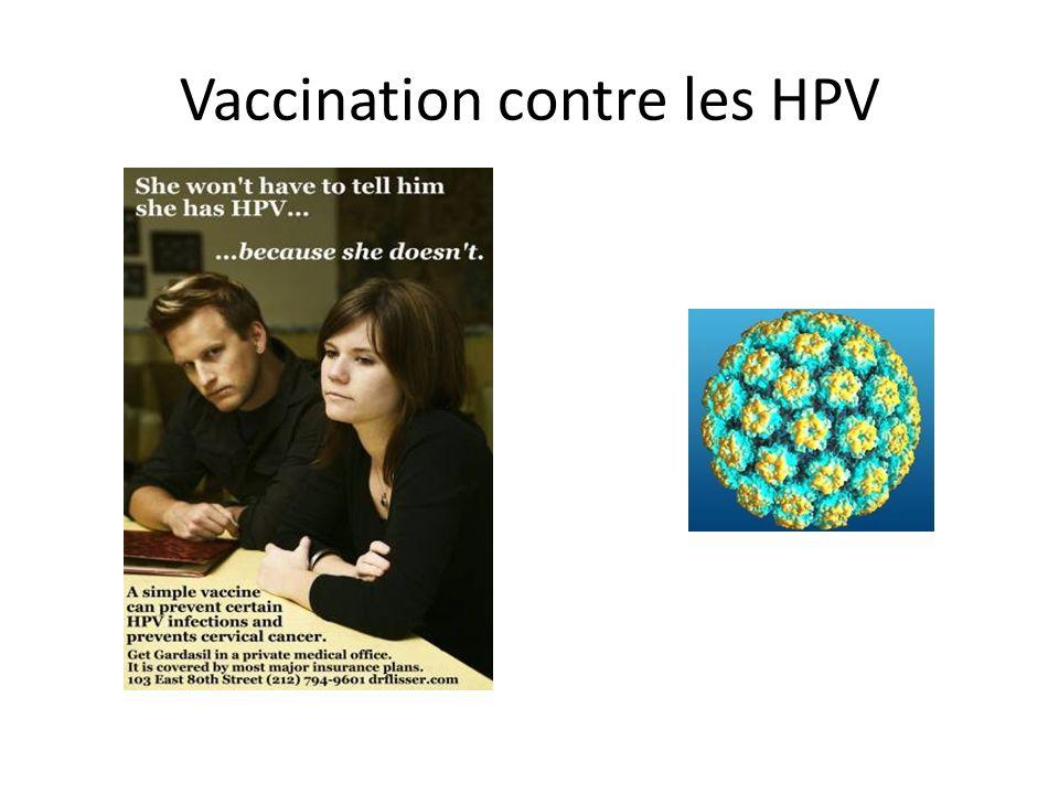 Vaccination contre les HPV