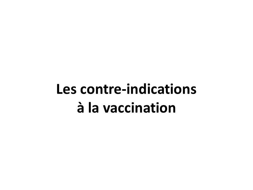 Les contre-indications à la vaccination