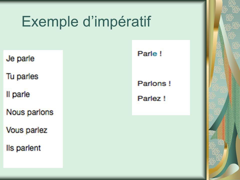 Exemple dimpératif