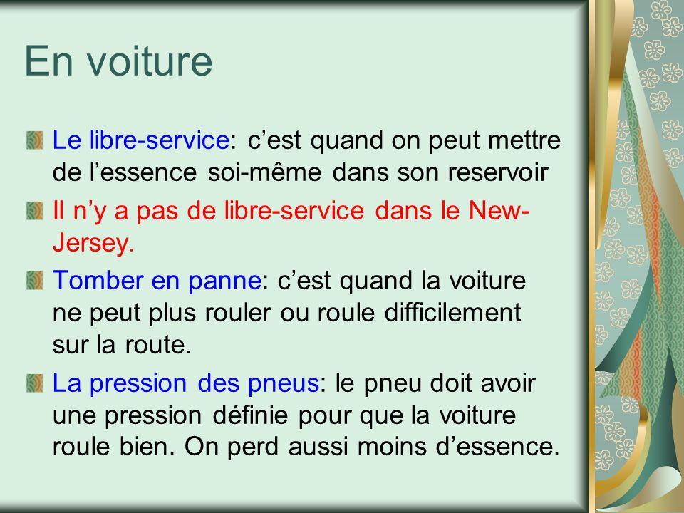 Les voitures en France En France les voitures sont très petites dans les villes parce que: -Les rues françaises sont très petites -il y a moins despaces pour garer les voitures -lessence est très chère Il y a beaucoup de voitures Smart en France Dans les grandes villes beaucoup de gens marchent ou utilisent les transports publics.