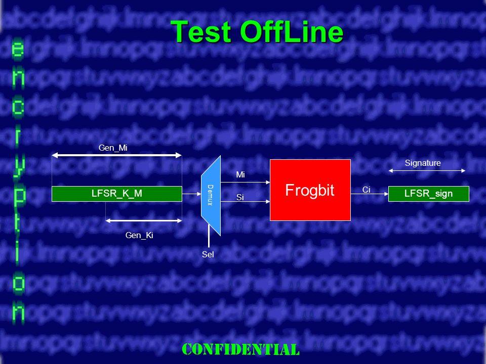 Slide 13 Test OffLine Frogbit LFSR_K_MLFSR_sign Demux Mi Si Ci Sel Gen_Mi Gen_Ki Signature