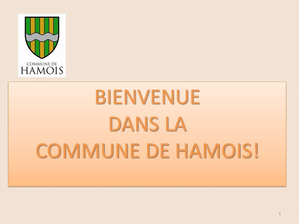 BIENVENUE DANS LA COMMUNE DE HAMOIS! BIENVENUE DANS LA COMMUNE DE HAMOIS! 1