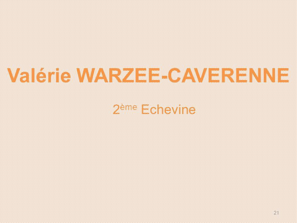 Valérie WARZEE-CAVERENNE 2 ème Echevine 21