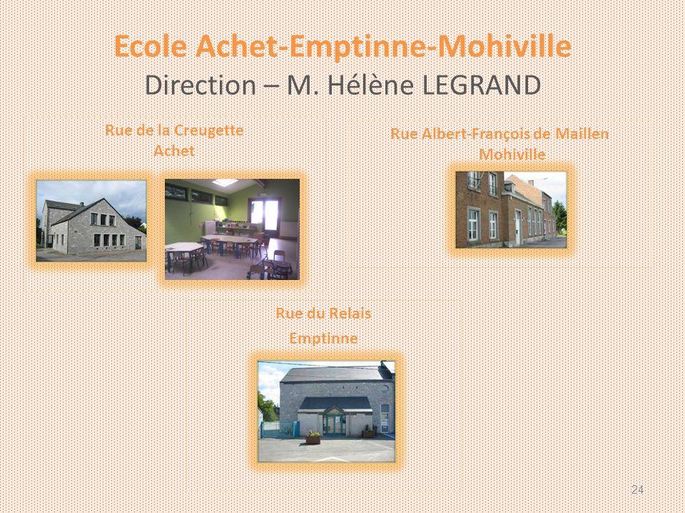 Ecole Achet-Emptinne-Mohiville Direction – M.
