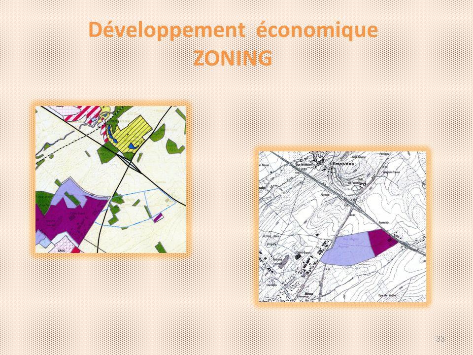 Développement économique ZONING 33