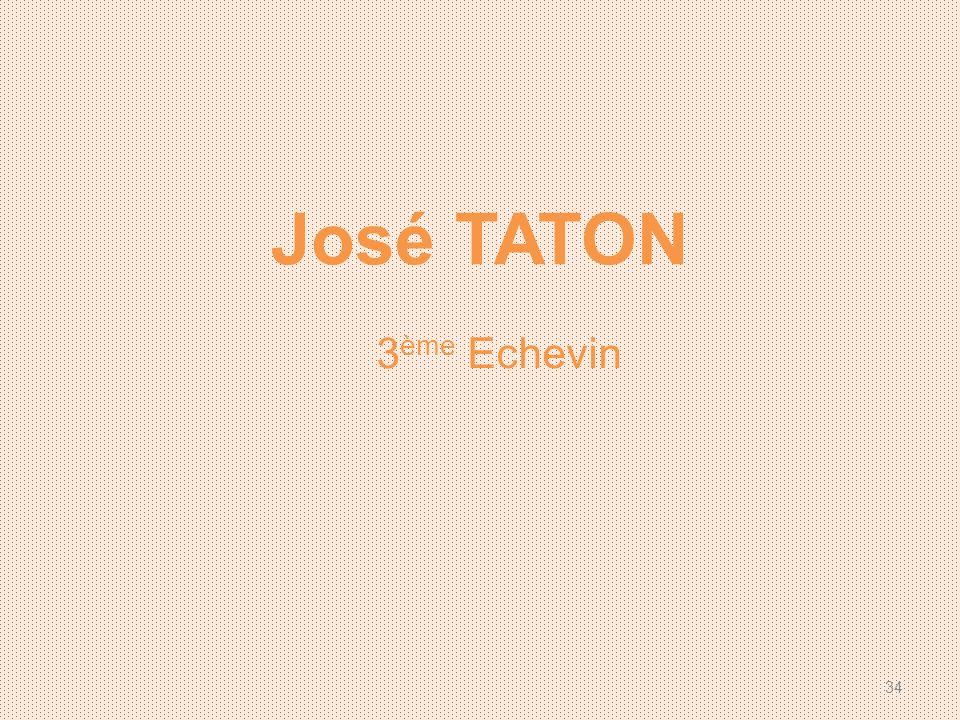 José TATON 3 ème Echevin 34