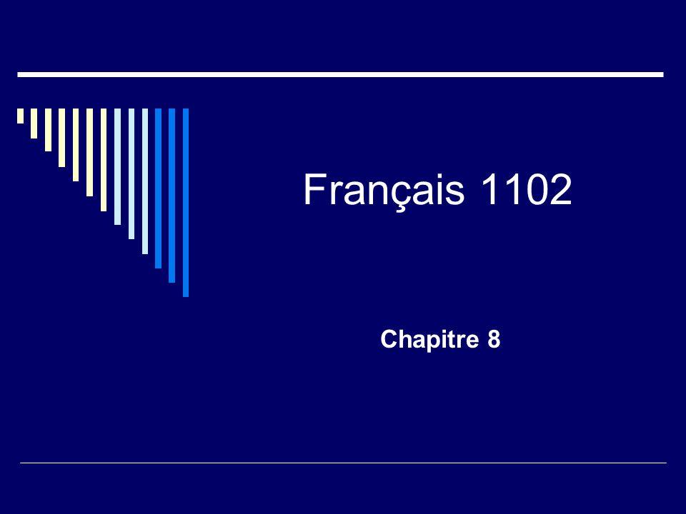 Français 1102 Chapitre 8