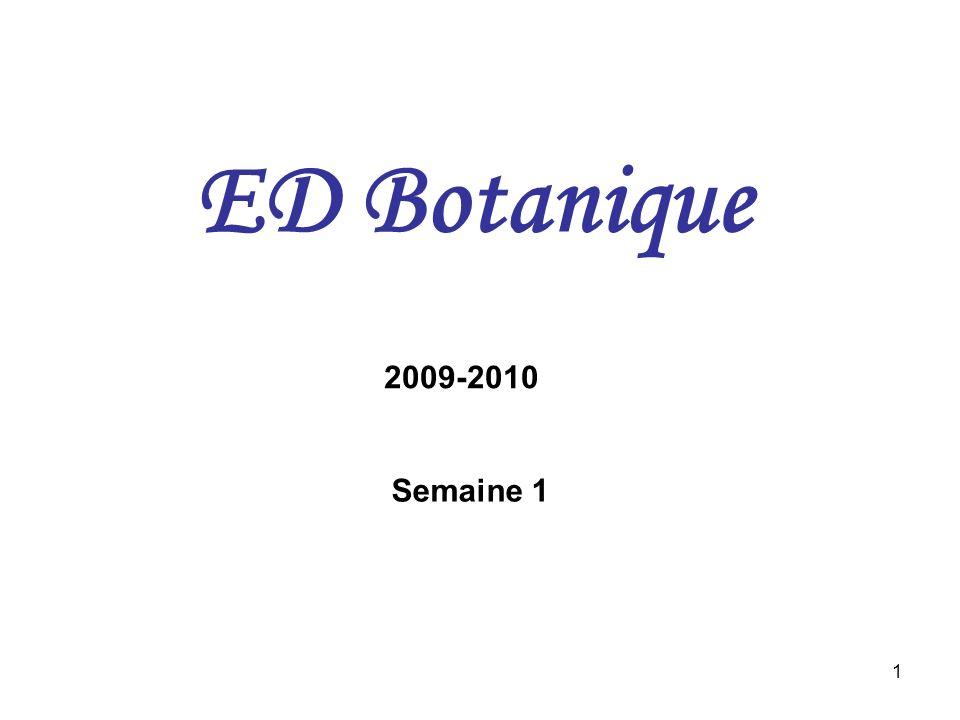 1 ED Botanique 2009-2010 Semaine 1