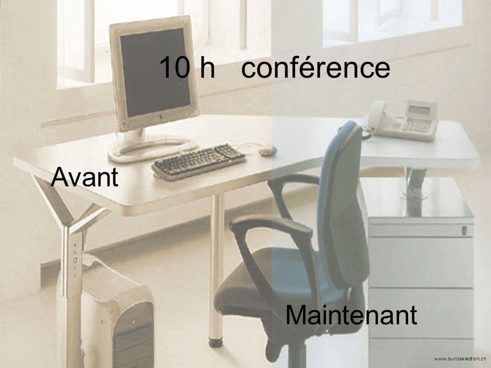 www.buroselection.ch 10 h conférence Avant Maintenant