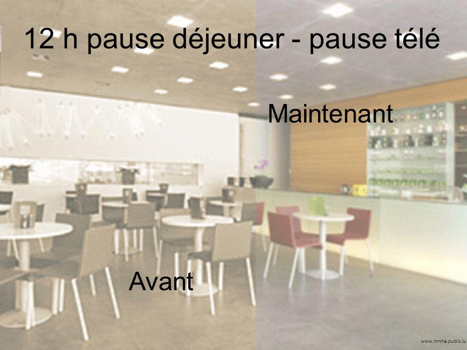 www.mnha.public.lu 12 h pause déjeuner - pause télé Avant Maintenant