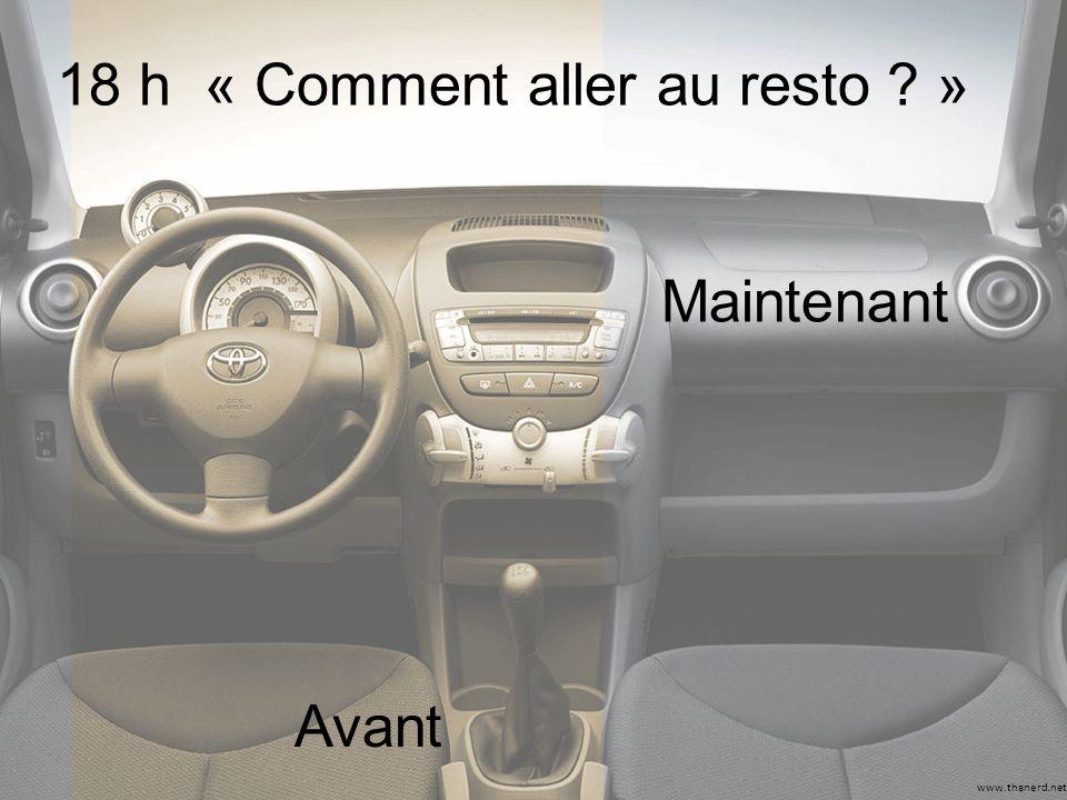 www.thanerd.net 18 h « Comment aller au resto ? » Avant Maintenant