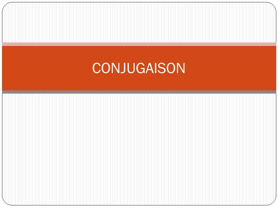 Type de conjugaison 3 types de verbes 1 er groupe en er 2 ème groupe en ir ( ajout de isse) 3 ème groupe en ir (sans ajout de isse)- oir-re