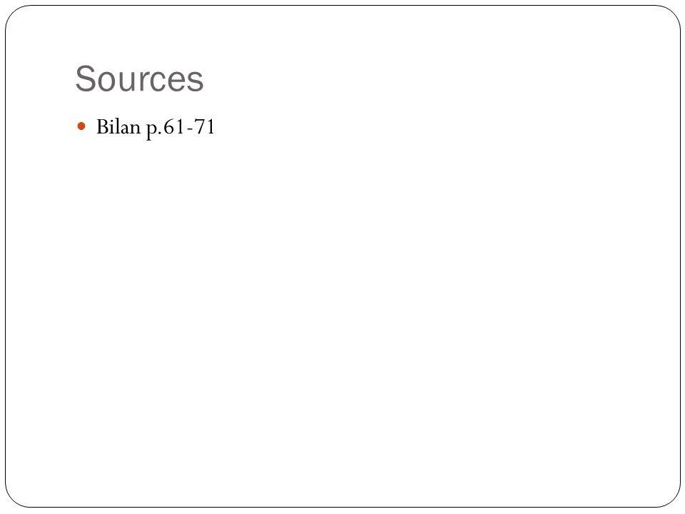 Sources Bilan p.61-71