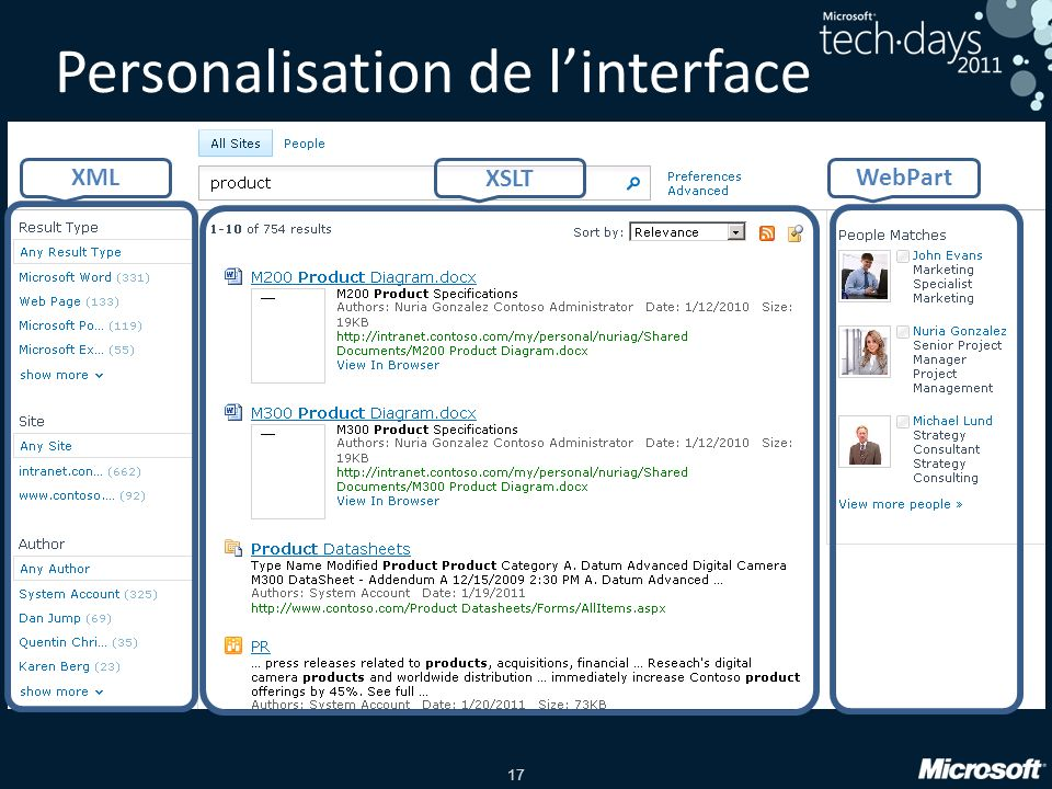 17 Personalisation de linterface XML XSLT WebPart
