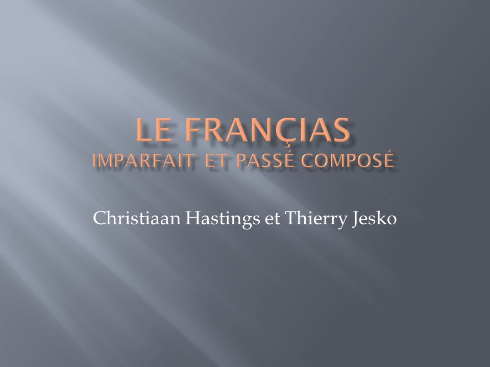 Christiaan Hastings et Thierry Jesko