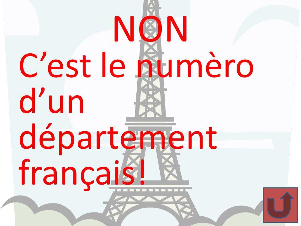 BRAVO !!! 99, nest pas le numéro dun département français.