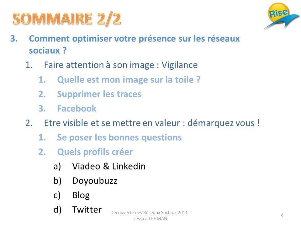 3.Comment optimiser votre présence sur les réseaux sociaux .