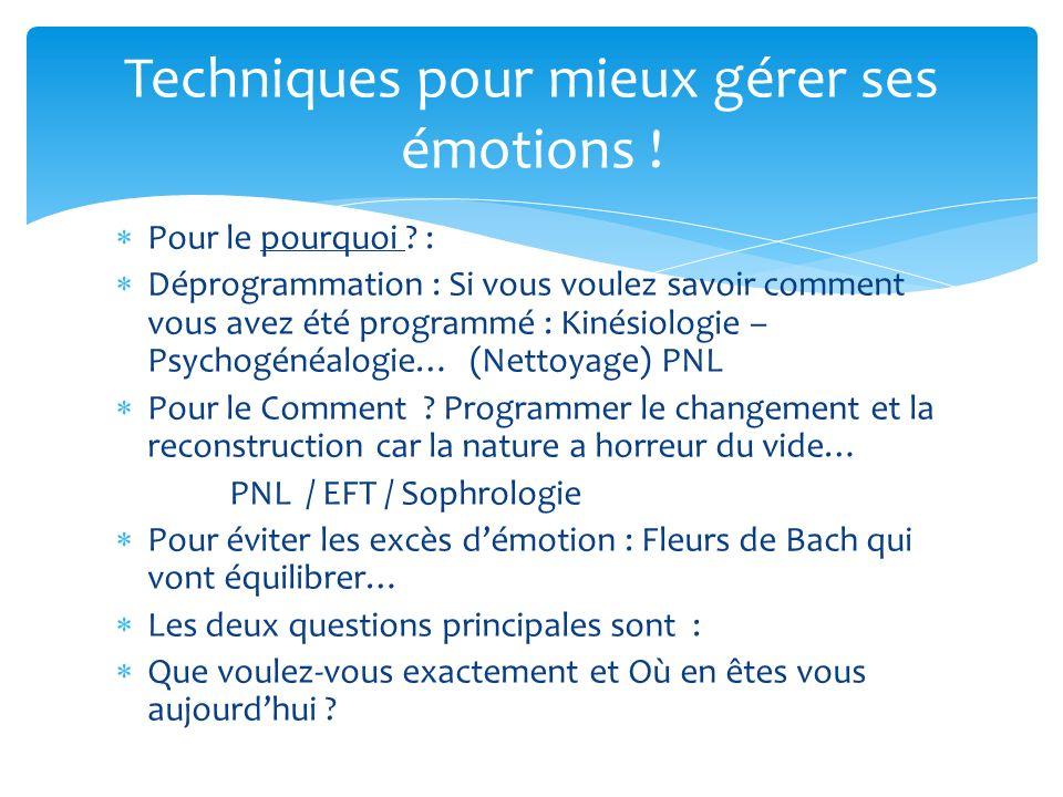 Pour le pourquoi ? : Déprogrammation : Si vous voulez savoir comment vous avez été programmé : Kinésiologie – Psychogénéalogie… (Nettoyage) PNL Pour l