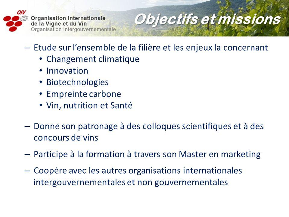 – Etude sur lensemble de la filière et les enjeux la concernant Changement climatique Innovation Biotechnologies Empreinte carbone Vin, nutrition et S