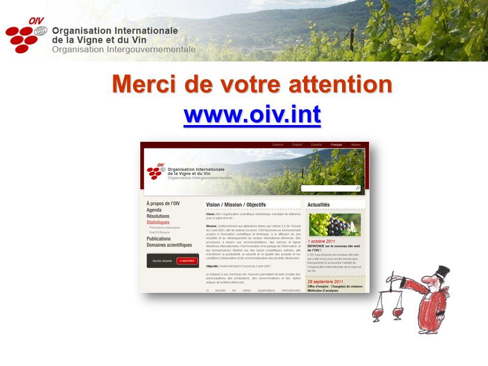 Merci de votre attention www.oiv.int yjuban@oiv.int