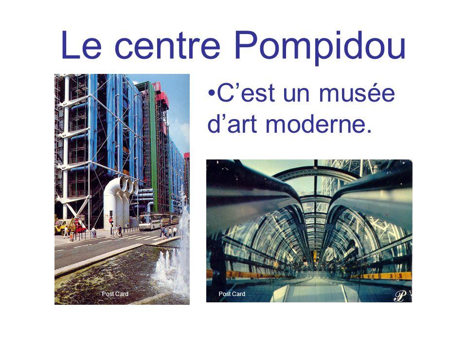 Le centre Pompidou Cest un musée dart moderne. Post Card