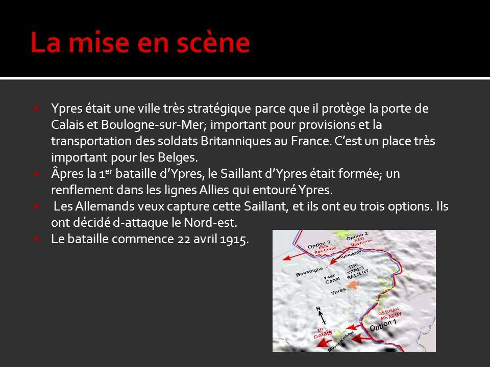 Ypres était une ville très stratégique parce que il protège la porte de Calais et Boulogne-sur-Mer; important pour provisions et la transportation des