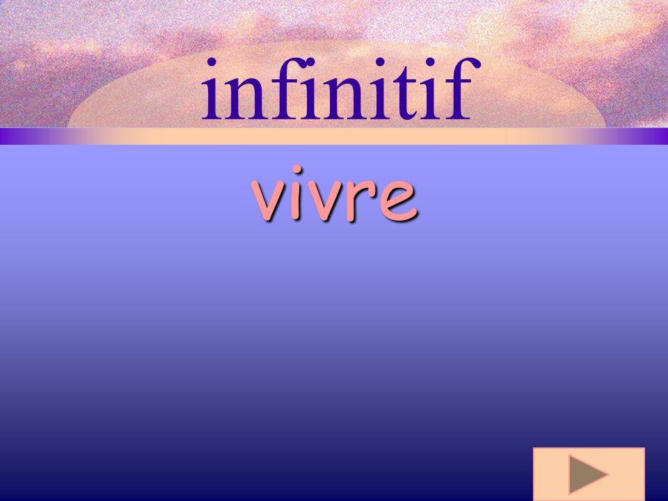 infinitif vivre