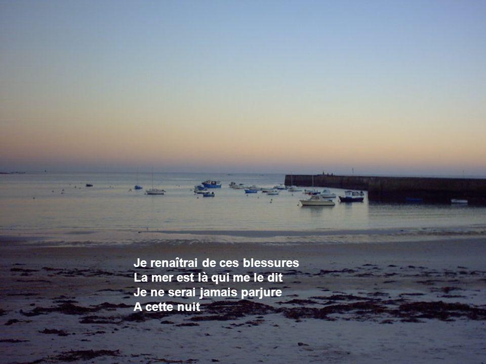 Lomener La mer est là qui me murmure Ces mots d'amour et d'infini La mer est là qui me rassure Le miracle n'est pas fini
