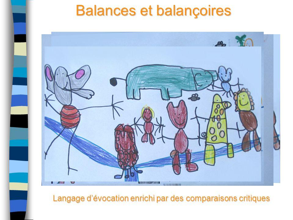Balances et balançoires Langage dévocation enrichi par des comparaisons critiques