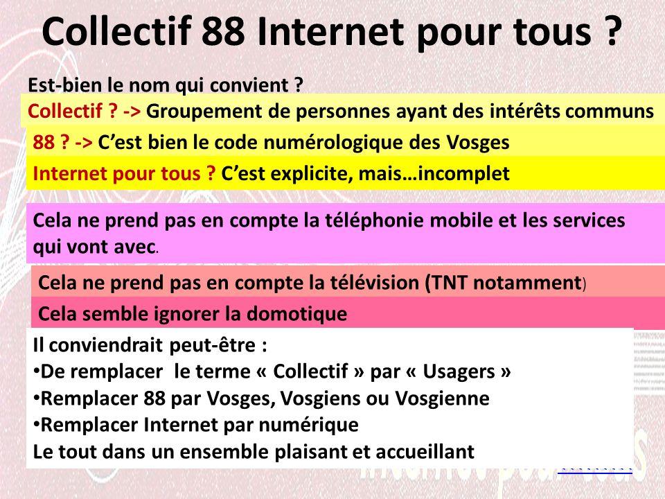 Collectif 88 Internet pour tous . <<<<<<<<< Collectif .