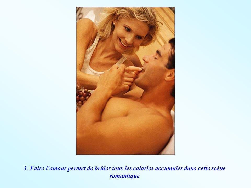 3. Faire l'amour permet de brûler tous les calories accumulés dans cette scène romantique