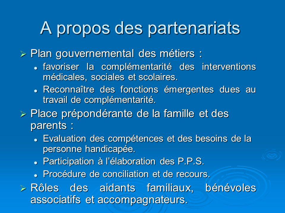 A propos des partenariats Plan gouvernemental des métiers : Plan gouvernemental des métiers : favoriser la complémentarité des interventions médicales