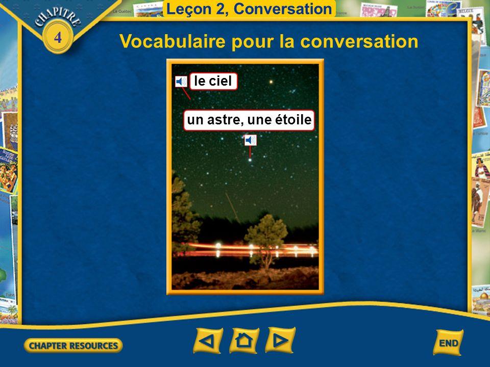 4 Vocabulaire pour la conversation Leçon 2, Conversation le lever du soleil Il ne se couchera pas au coucher du soleil.