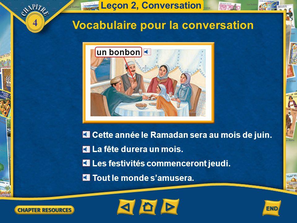 4 Vocabulaire pour la conversation Leçon 2, Conversation le ciel un astre, une étoile