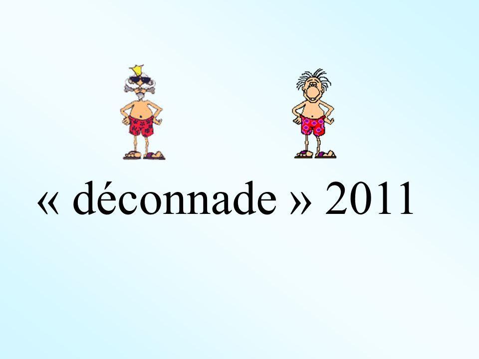 « déconnade » 2011