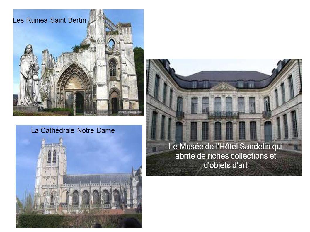 La Cathédrale Notre Dame Les Ruines Saint Bertin Le Musée de l'Hôtel Sandelin qui abrite de riches collections et d'objets d'art