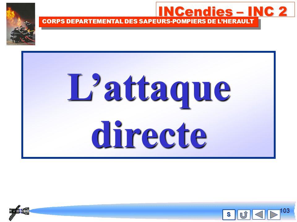 102 INCendies – INC 2 CORPS DEPARTEMENTAL DES SAPEURS-POMPIERS DE LHERAULT S2