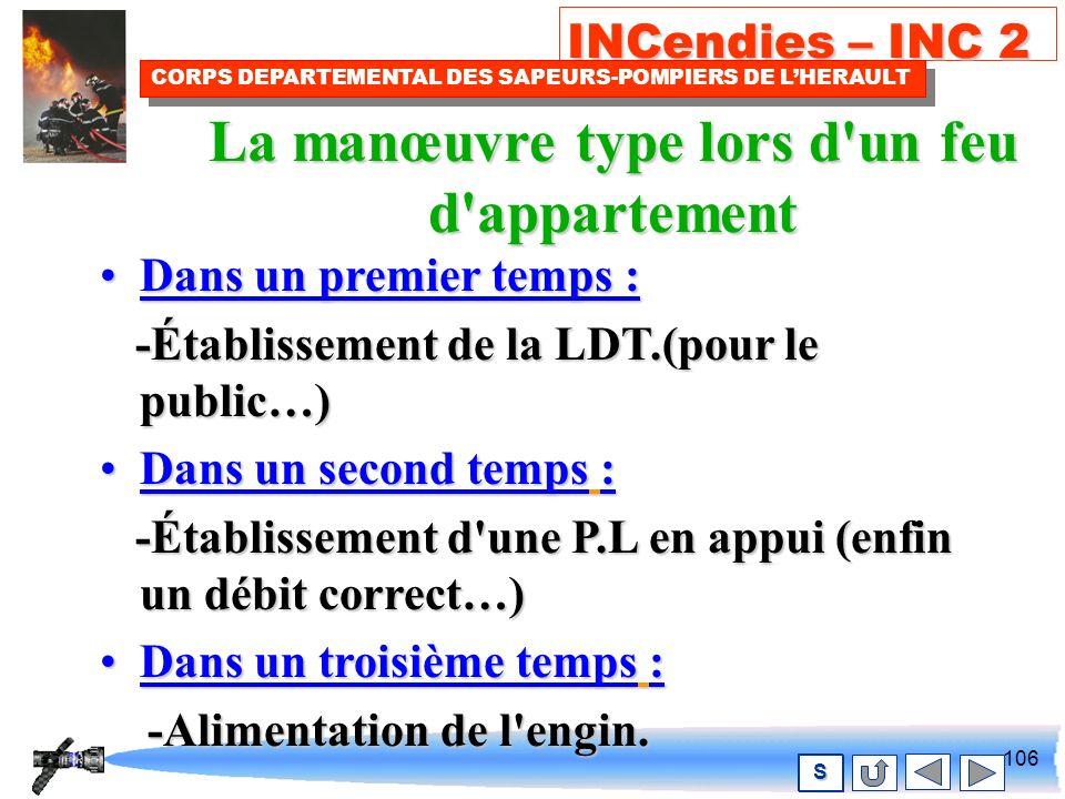 105 INCendies – INC 2 CORPS DEPARTEMENTAL DES SAPEURS-POMPIERS DE LHERAULT S