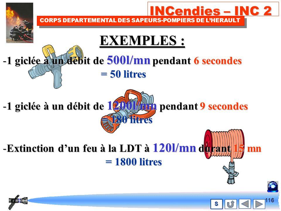 115 INCendies – INC 2 CORPS DEPARTEMENTAL DES SAPEURS-POMPIERS DE LHERAULT S Agirbrièvement avec Beaucoup d eau