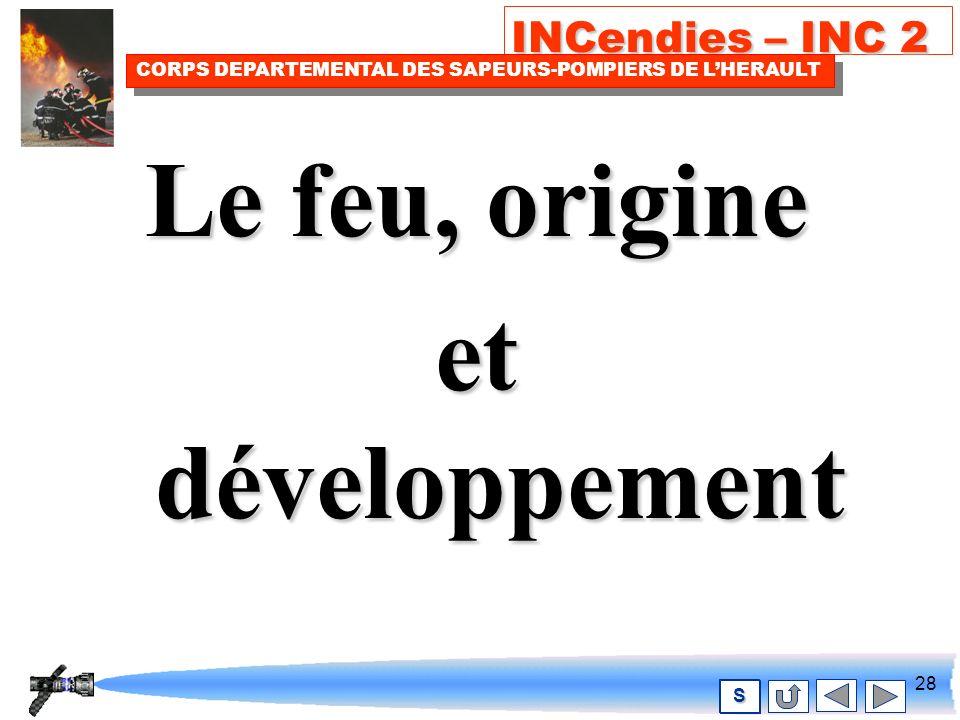 27 INCendies – INC 2 CORPS DEPARTEMENTAL DES SAPEURS-POMPIERS DE LHERAULT S Document IFSTA C O N V E C T I O N