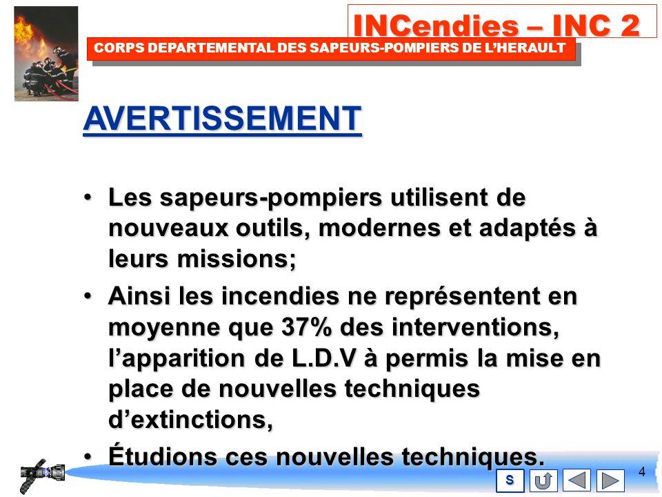 3 INCendies – INC 2 CORPS DEPARTEMENTAL DES SAPEURS-POMPIERS DE LHERAULT S SOMMAIRE AVERTISSEMENTAVERTISSEMENT RAPPELS THEORIQUES SUR LES L.D.V.RAPPELS THEORIQUES SUR LES L.D.V.RAPPELS THEORIQUES SUR LES L.D.V.RAPPELS THEORIQUES SUR LES L.D.V.