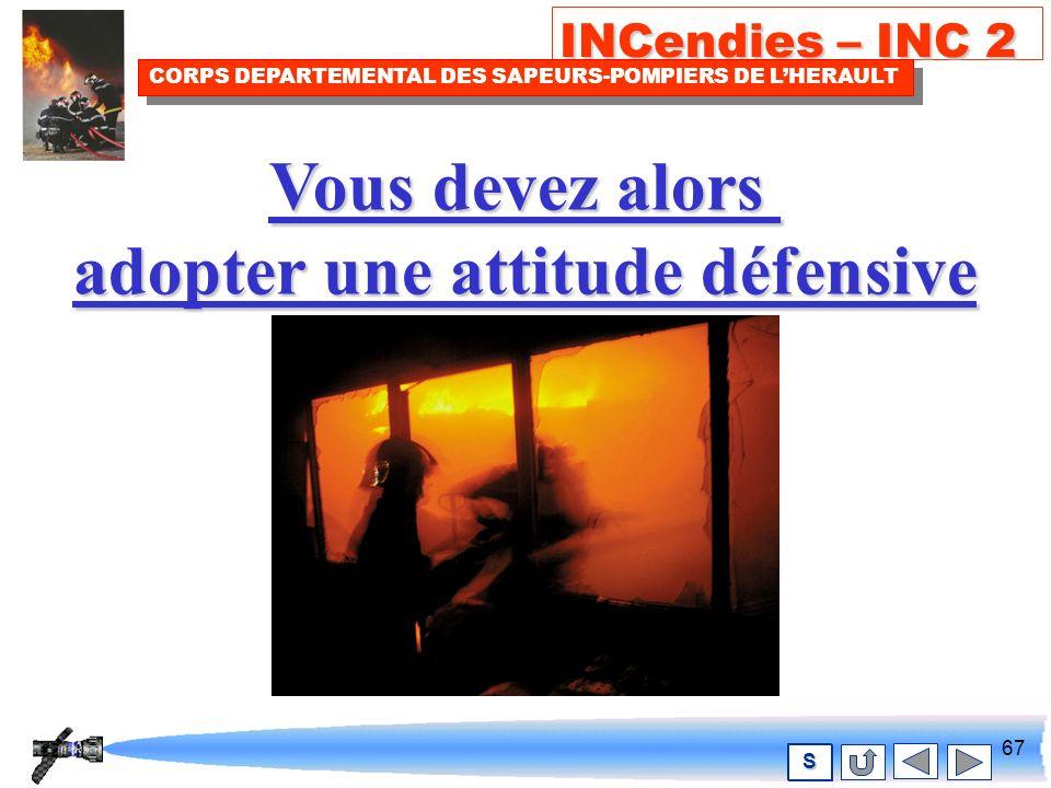66 INCendies – INC 2 CORPS DEPARTEMENTAL DES SAPEURS-POMPIERS DE LHERAULT S ATTENTION, Le risque de FLASH-OVER FLASH-OVER est possible