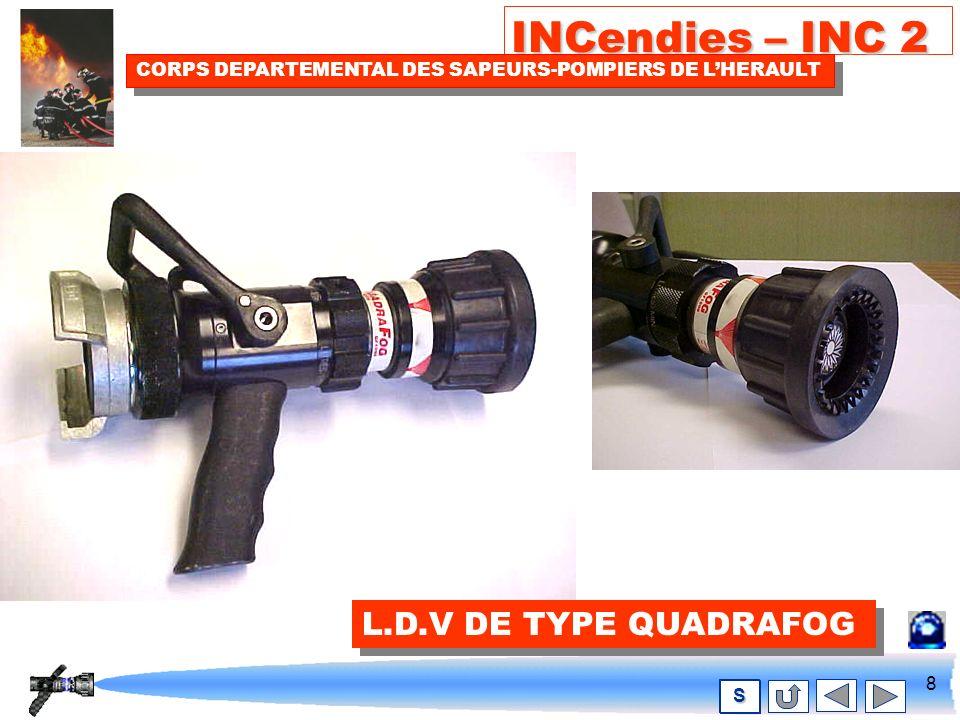7 INCendies – INC 2 CORPS DEPARTEMENTAL DES SAPEURS-POMPIERS DE LHERAULT S L.D.V AUTOMATIQUES DE TYPE MACH3 L.D.V AUTOMATIQUES DE TYPE MACH3