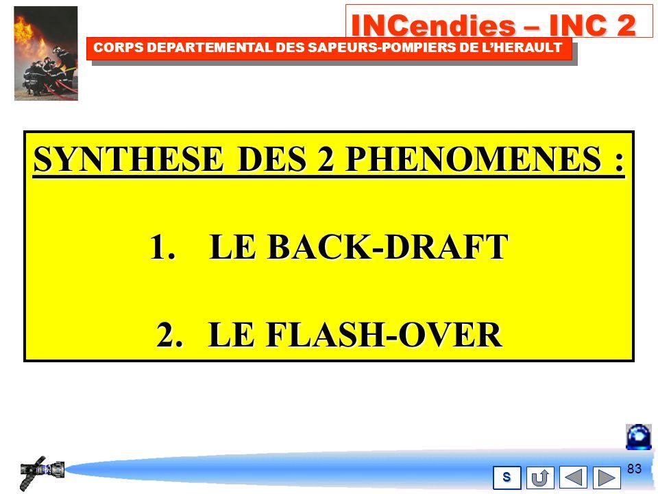 82 INCendies – INC 2 CORPS DEPARTEMENTAL DES SAPEURS-POMPIERS DE LHERAULT S Un flashover