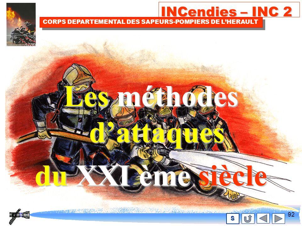 91 INCendies – INC 2 CORPS DEPARTEMENTAL DES SAPEURS-POMPIERS DE LHERAULT S Comportement du porte-lance face au feu