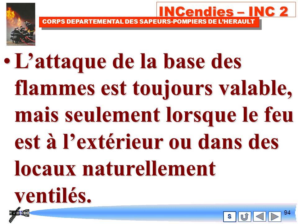 93 INCendies – INC 2 CORPS DEPARTEMENTAL DES SAPEURS-POMPIERS DE LHERAULT S Les incendies évoluent.