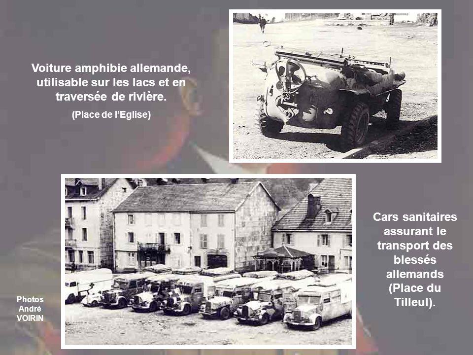 Cars sanitaires assurant le transport des blessés allemands (Place du Tilleul).