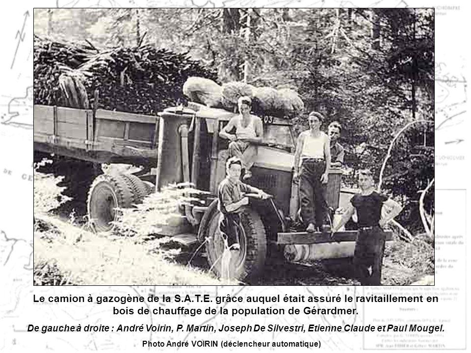 Le camion à gazogène de la S.A.T.E.